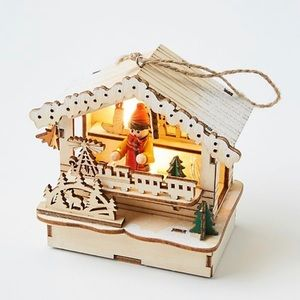 Anthropologie Light Up Village Ornament-New